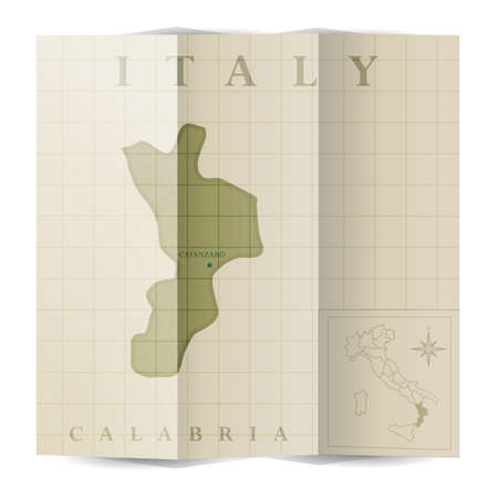 Calabria paper map
