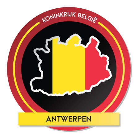 antwerpen map sticker