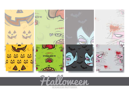 halloween seamless pattern collection Stock Vector - 81535690