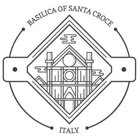 サンタ ・ クローチェ聖堂  イラスト・ベクター素材