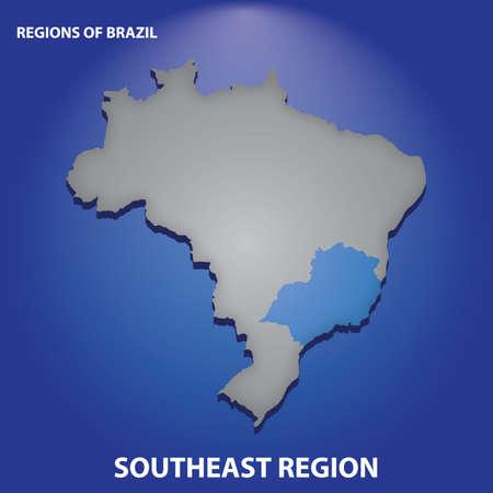 Região sudeste do brasil Foto de archivo - 81484845