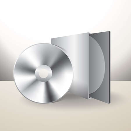 cd box with disc Banque d'images - 106669039
