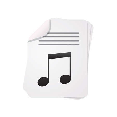 music note on paper Stock Illustratie