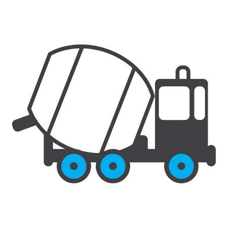 コンクリート ミキサー車  イラスト・ベクター素材