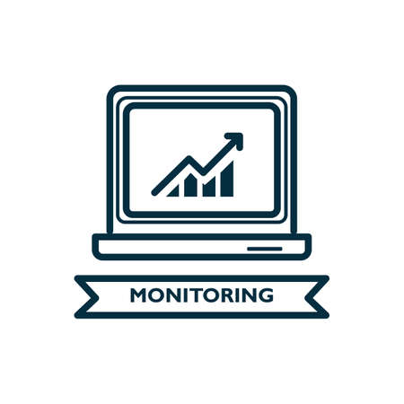 Monitoring concept Ilustrace