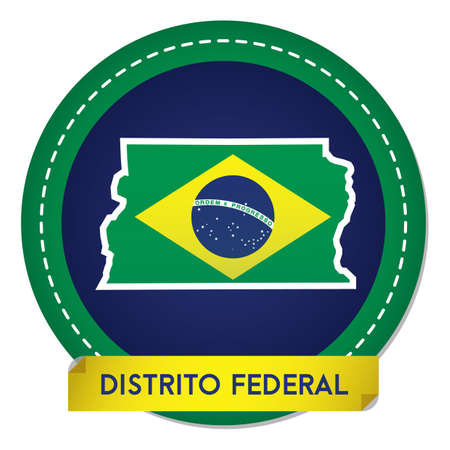 distrito federal map sticker 일러스트