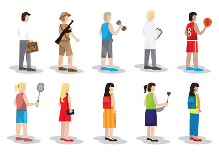 collection of people icons Illustration
