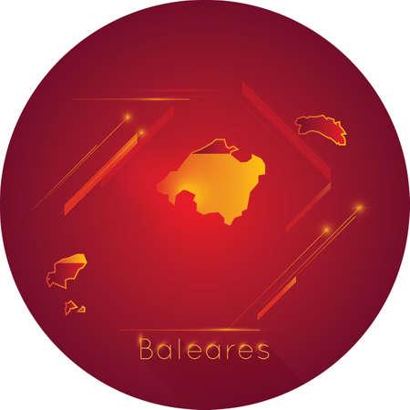 baleares map Illusztráció