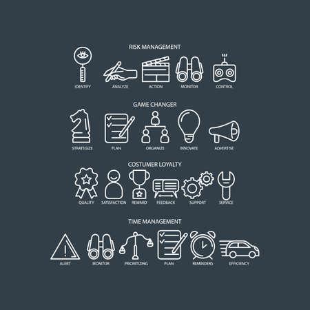 collection d'icônes de l'entreprise