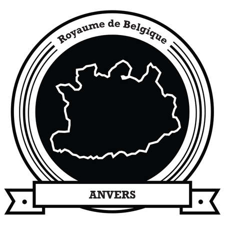 anvers map label Ilustrace