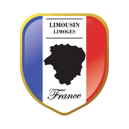 limousin map label Ilustrace