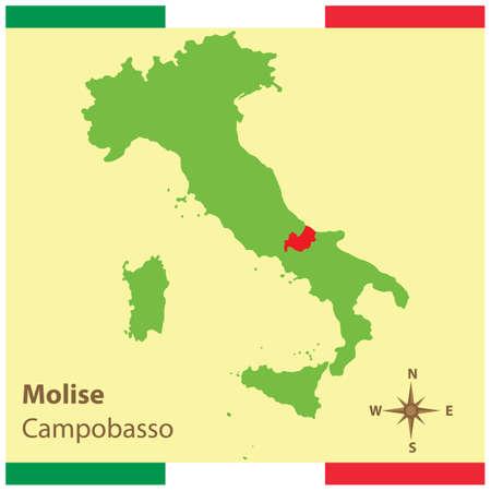 地図イタリア モリーゼ州  イラスト・ベクター素材
