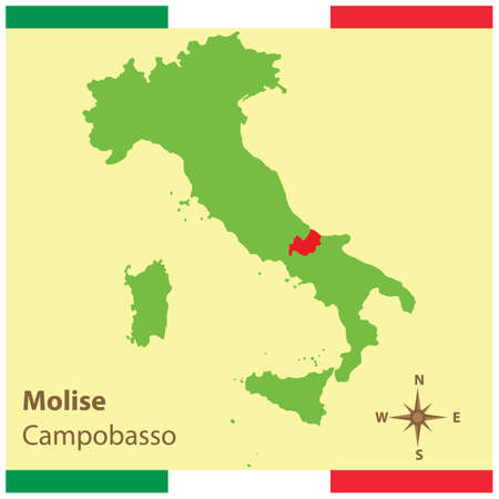 molise on italy map