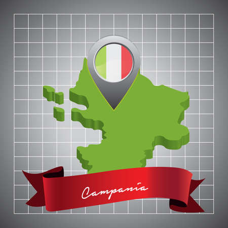 campania map with map pointer