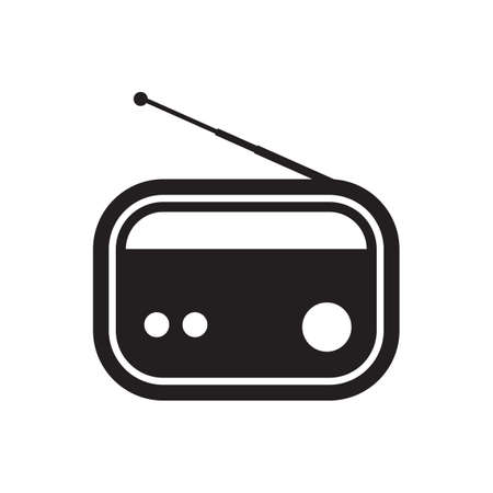 vintage radio Illusztráció