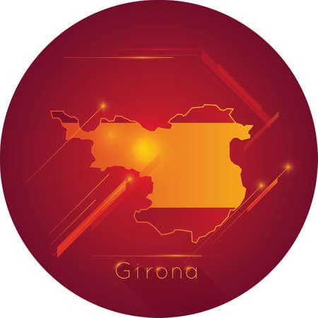 girona map Illusztráció