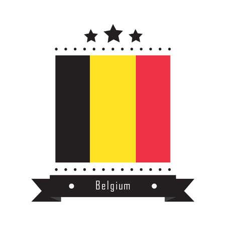 belguim flag label Stock Illustratie