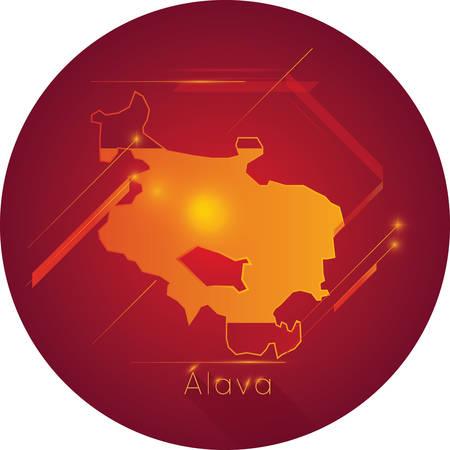 alava map Banco de Imagens - 81589883
