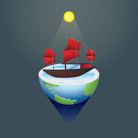 chinese junk Stock Vector - 81535624
