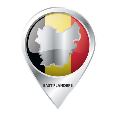 map pointer with east flanders map