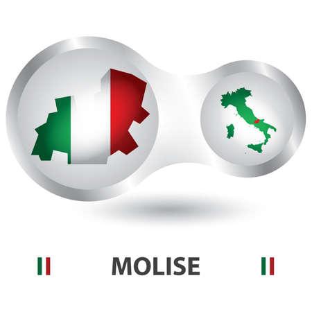 モリーゼ州地図
