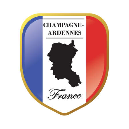 Champagne ardenne map label