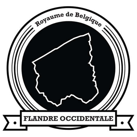 flandre occidentale map label