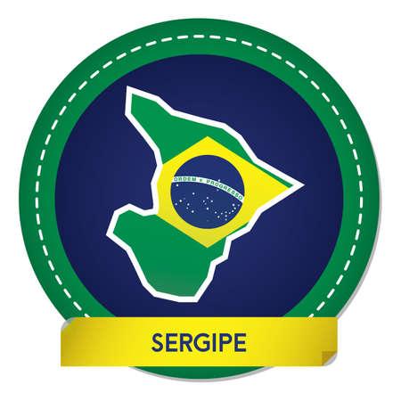 sergipe map sticker Banque d'images - 106669089