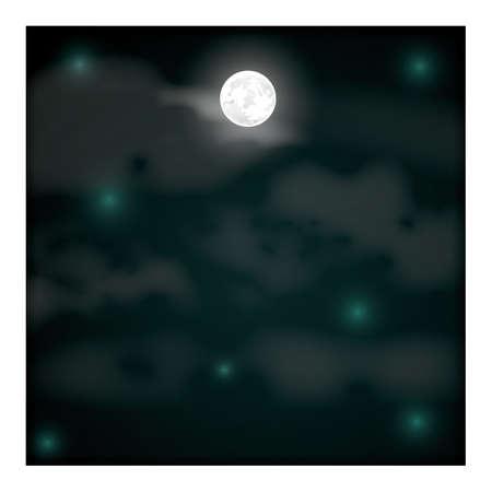 night background Illusztráció