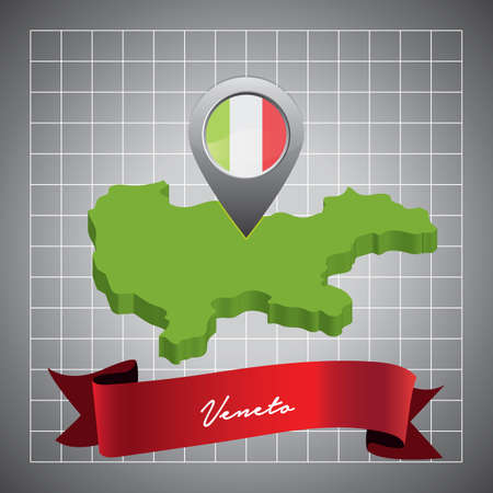 veneto map with map pointer