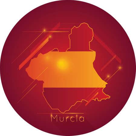ムルシア地図  イラスト・ベクター素材