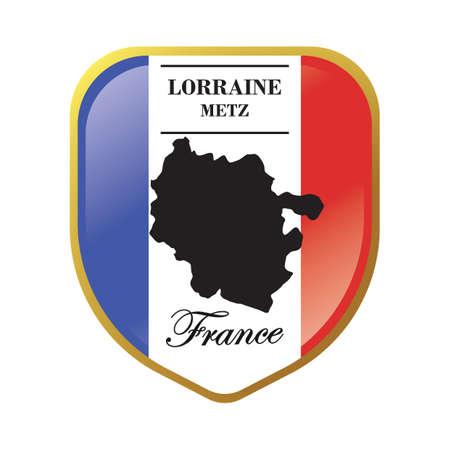 Lorraine map label Illusztráció