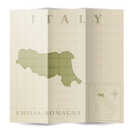 エミリア = ロマーニャ州紙の地図