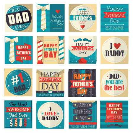 collection of happy father's day cards Фото со стока - 81589864