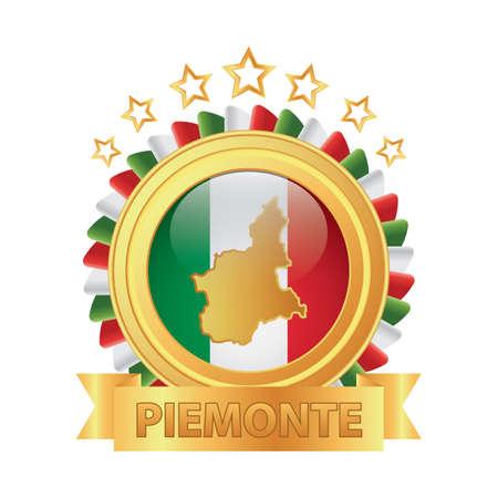 piemonte map Banco de Imagens - 81590125