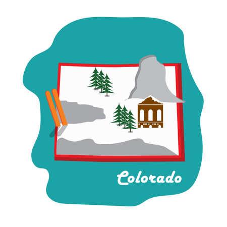 スキー リゾートとコロラド州地図