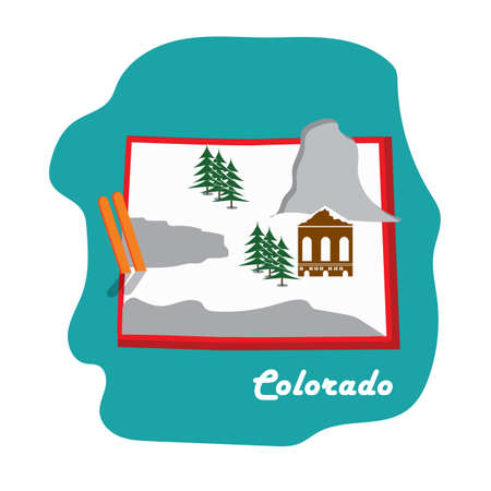 colorado state map with ski resort
