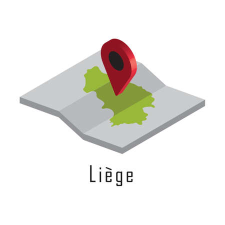 liege paper map with map pointer