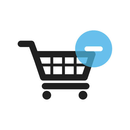 shopping cart with minus symbol Иллюстрация