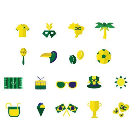 brazil icons Illustration