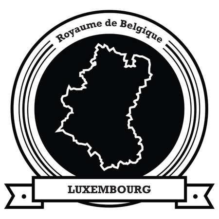 luxembourg map label Ilustração