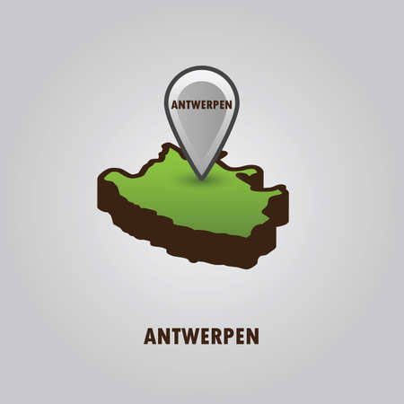 map pointer indicating antwerpen