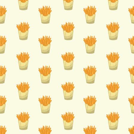 감자 튀김과 배경 일러스트