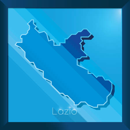 lazio map Illustration