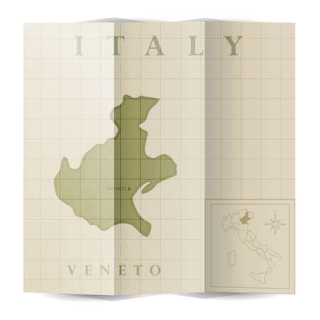 ヴェネト州紙の地図