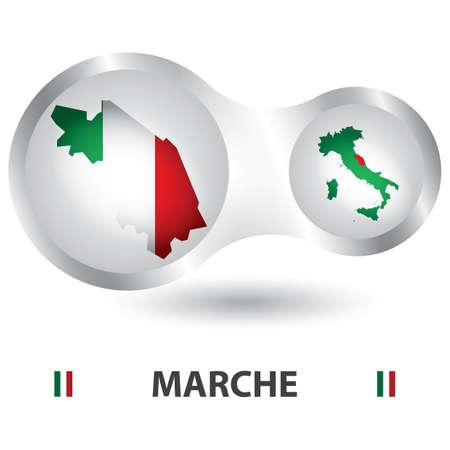 marche map Illusztráció
