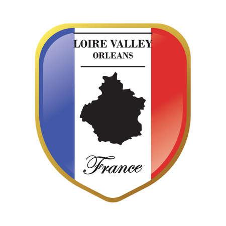loire valley map label