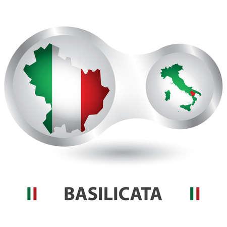 basilicata map Illustration