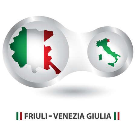 Friuli-venezia giulia kaart