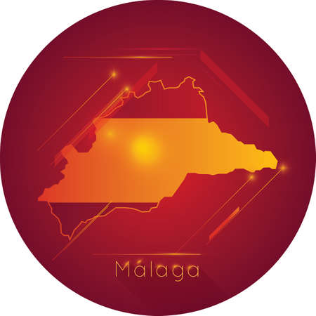 malaga kaart Stock Illustratie